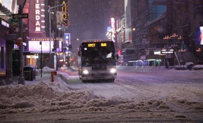 Snow storm in New York City