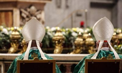 Prelates during the the Holy Mass for the opening of the special assembly of the Synod of Bishops for the Pan-Amazon Region celebrated by Pope Francis in Saint Peter's Basilica at the Vatican City, 06 October 2019