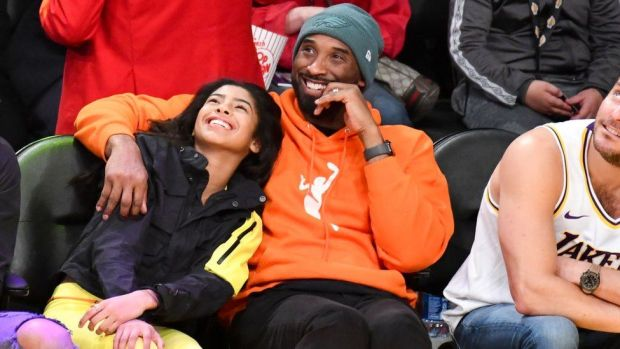 Kobe Bryant and daughter Gianna Bryant attend a basketball game between the Los Angeles Lakers and the Dallas Mavericks at Staples Center on December 29, 2019 in Los Angeles, California