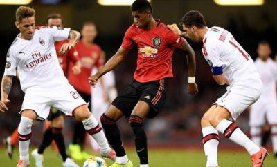 Manchester United against AC Milan in 2019 pre-season