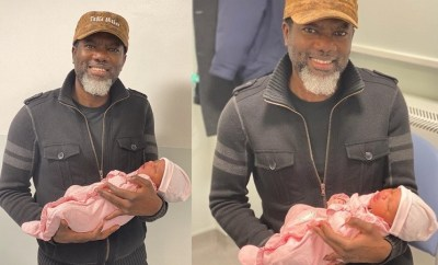 Adorable photos of Reno Omokri and his newborn daughter named after?former President Goodluck Ebele Jonathan?