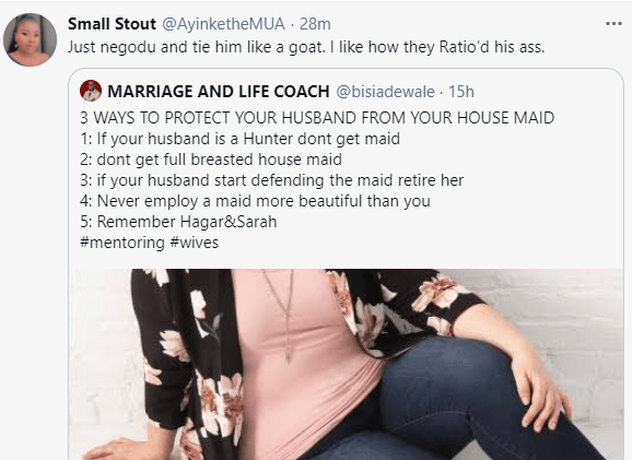 Marriage coach called out for his advice to women on how to protect their husbands from the maid
