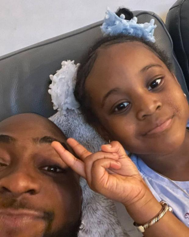 Lovely photos and video of Davido with his second daughter, Hailey