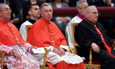 Cardinal Luis Ladaria (left) of the Congregation for the Doctrine of the Faith signed the response