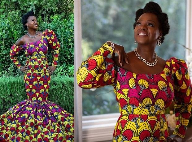 Actress Viola Davis makes a statement in stunning African print dress at 2021 Golden Globes (Photos)