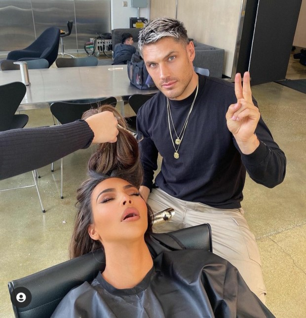 Hairdresser shares photo of Kim Kardashian to troll her after she fell asleep in his glam chair