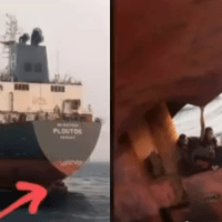 Lagos Anchorage Officials Nab Stowaways Hiding At Rudder of A Ship Heading For Spain [Video]