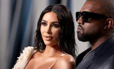 Kim Kardashian and Kanye West in 2020