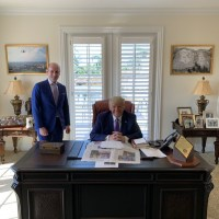 Donald Trump Spotted Hiding 'Coke' Bottle On His Office Desk Despite Telling His Supporters To Boycott The Drink [Photos]