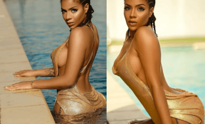 Reality star, Venita Akpofure?gets wet in new saucy photos?
