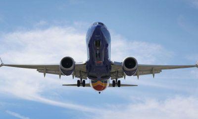 737 Max plane in flight in 2019