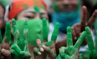 TMC supporters celebrate their party's win in West Bengal