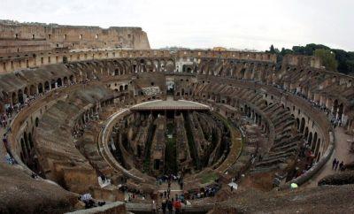 People visit Rome's ancient Colosseum