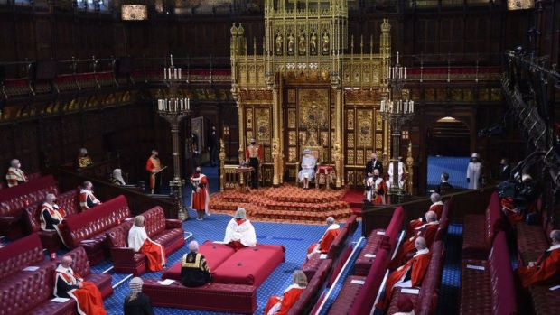 The Queen reads the Queen's Speech