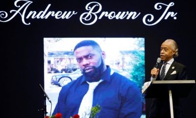 Civil rights leader Al Sharpton spoke at Mr Brown's funeral