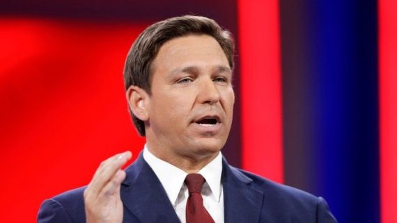Ron DeSantis speaks during the welcome segment of the Conservative Political Action Conference (CPAC) in Orlando, Florida