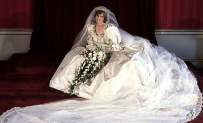 Diana, Princess of Wales, on her wedding day