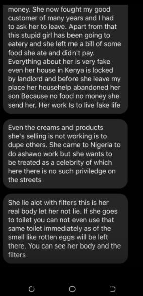 Singer Akothee reacts after socialite Bridget Achieng