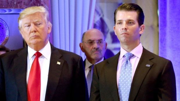 Former President Donald Trump, his son Donald Trump Jr. and Allen Weisselberg
