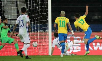 Lucas Paqueta came on as a substitute to score Brazil's winner