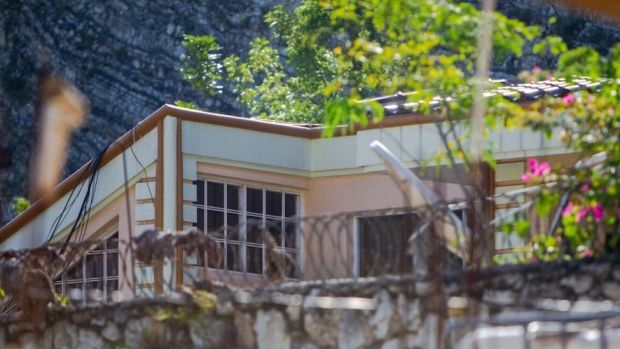 View of the home of assassinated president Jovenel Moïse