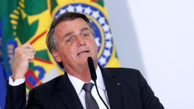 Jair Bolsonaro is pictured on 13 July