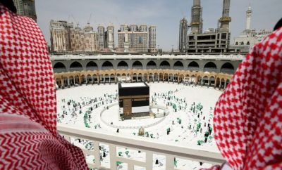 Muslim pilgrims perform Tawaf around Kaaba in the Grand Mosque in the holy city of Mecca,