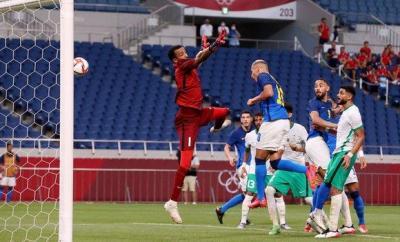 Richarlison scoring against Saudi Arabia