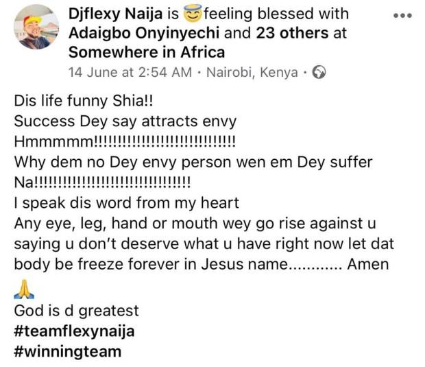 Nigerian DJ, DJ Flexy Naija is dead