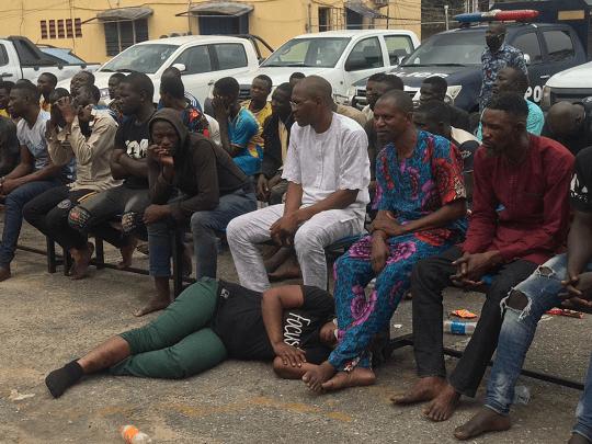 Police parade Yoruba Nation protesters arrested in Lagos
