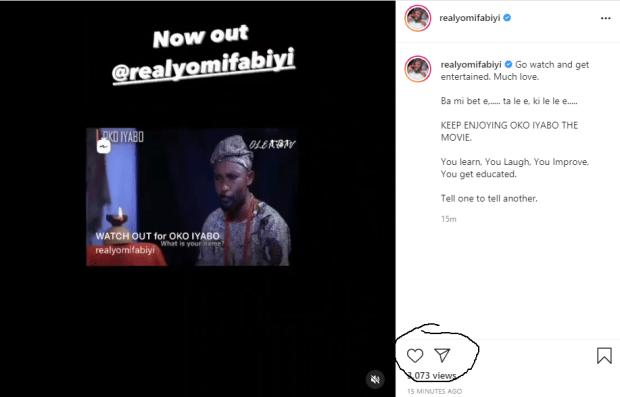 Actor Yomi Fabiyi turns off his Instagram