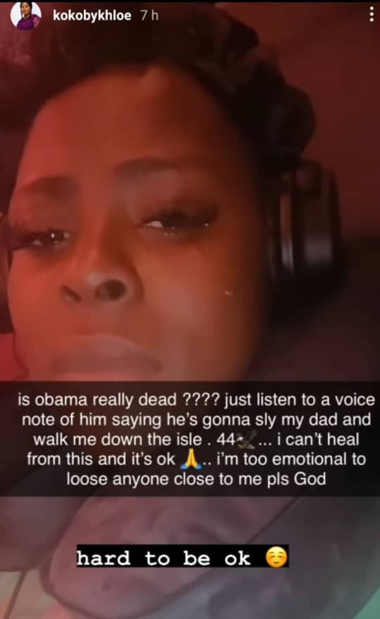 """""""You held my hands while I got my implants """"- reality TV star, Koko, breaks into tears as she remembers her friend, Obama DMW who died recently (video)"""