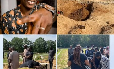 Photos and Videos from the funeral of singer Sound Sultan; his heartbroken wife Farida Fasasi breaks down