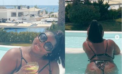 BBNaija star, Dorathy flaunts her bikini body while on vacation (photos)