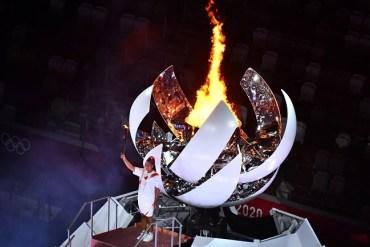 Tokyo 2020 Olympics: Naomi Osaka lights Olympic cauldron at Opening Ceremony (Photos)