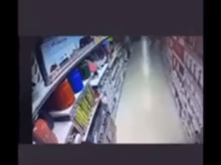 CCTV footage of a lady deliberately turning on a gas cooker at an Abuja Supermarket surfaces after an explosion occurred (video)