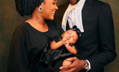 Son of Attorney-General, Abdulazeez Malami shares beautiful photos with wife and baby as he is called to the Nigerian Bar