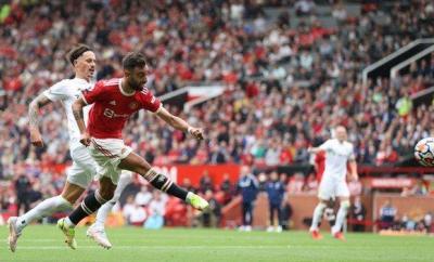 Bruno Fernandes, Manchester United, goal, Leeds United, Premier League