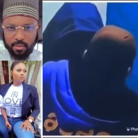 BBNaija's Tega's Husband Reacts After She Allowed Male Housemate, Saga, Suck Her Breast On Live TV [Video]