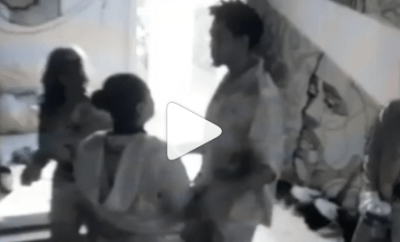 #BBNaija: Boma and Tega kiss for 15 seconds (video)