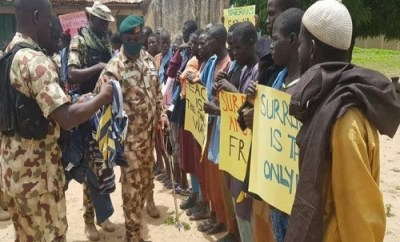 5,890 terrorists have so far surrendered to troops - Defence Headquarters says