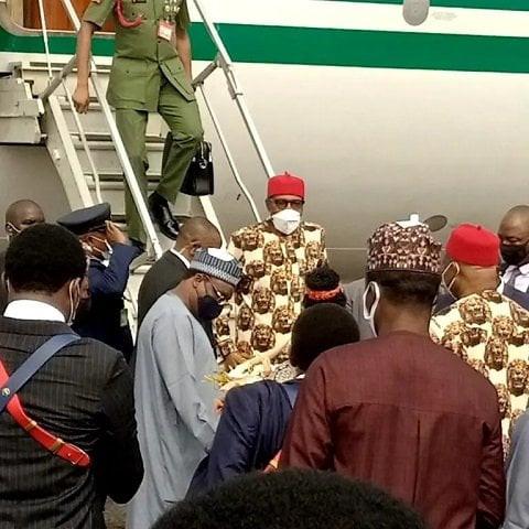 President Buhari arrives Imo state (photos/video)