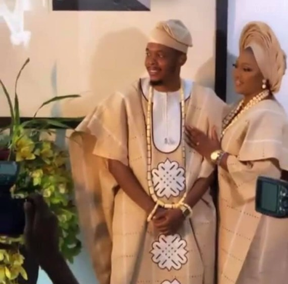 Producer Sess and fianc?e, Feyi hold their traditional wedding (video)