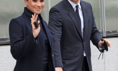 Prince Harry and Meghan Markle visit the 9/11 memorial and One World Trade Center during their first major public appearance since welcoming daughter (photos)
