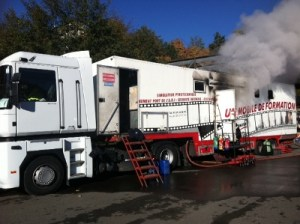 le camion simulateur de feu