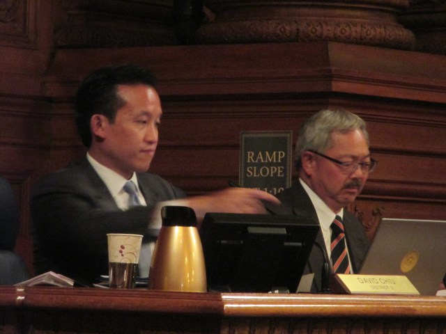 Sup. David Chiu and Mayor Ed Lee at Question Time today