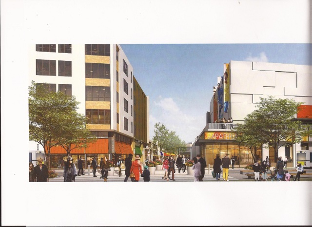 A mockup of the mall that will likely feature high-end retail (and minimum-wage jobs)
