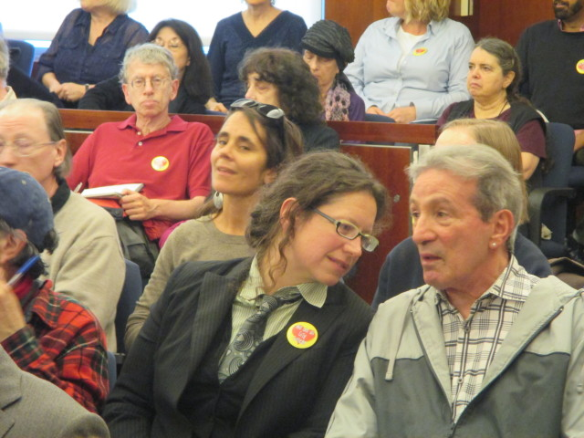 Alisa Messer, a leader in the City College teachers union, and former Assemblymember Tom Ammiano were among those in the packed courtroom