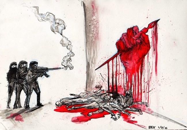 Local comics artists respond to Charlie Hebdo massacre