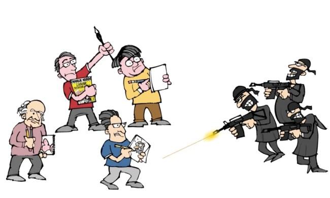 Bay Area cartoonists respond to Charlie Hebdo massacre